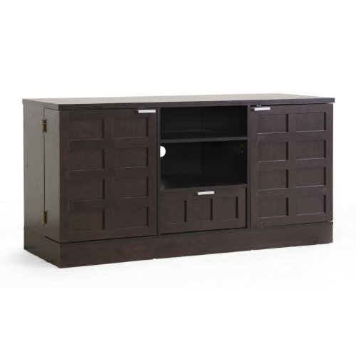 (Baxton Studio Tosato Brown Modern TV Stand and Media Cabinet)