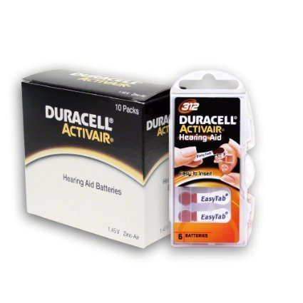 Price comparison product image Duracell Hearing Aid Batteries Size 312 pack 60 batteries
