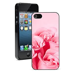 Apple iPhone 4 4S 4G Black 4B391 Hard Back Case Cover Color Pink Roses