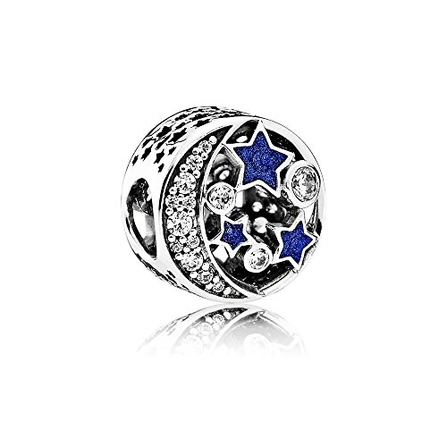 Pandora Charm Vintage Night Sky, 791992CZ (Moon And Star Charm Bracelet)