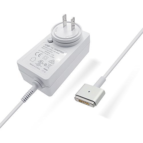 Qyd 45w-laptop-charger replacement magsafe-2-t tip-power-adapter for macbook-air 11''13'' md592ll/a md592b/a md223ch/a a1435 a1465 mqd32 a1466 a1436 8.2ft notebook-power-supply-ac-cord-cable by QYD (Image #5)