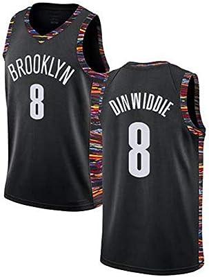 LCY Hombres Jersey Baloncesto - NBA Jersey Nets nº 8 Mangas ...