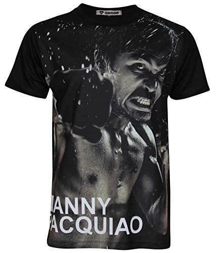 Manny Pacquiao Pac Man Boxing Legend Men Unisex Shirt Medium Black (Legend Manny T-shirt)