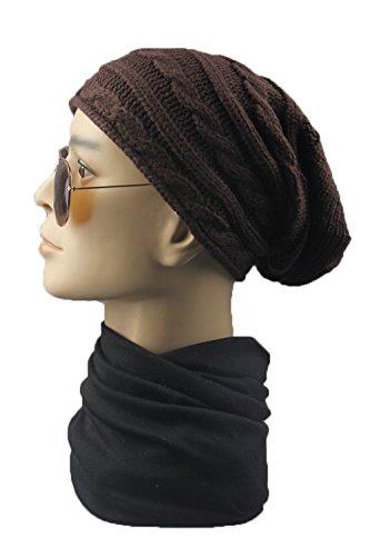 sombrero de caliente gorro Gorras horizontales punto unisex Marrón con sombrero y de de lana ww8Ca0nq