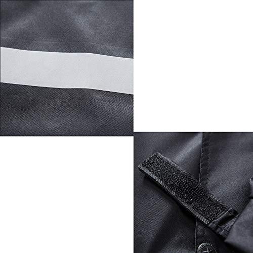 Impermeabile A colore Nero Lungo Doppio Fluorescente Strato Giallo Riflettente Xxxl Con Hbwjsh Poncho Dimensioni dRqWEd