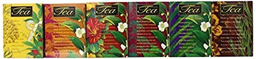 Tropical Tea Assortment, 6 All-Natural Flavors, 120 Tea Bags Blended and Packed in Hawaii (Pack of 6)