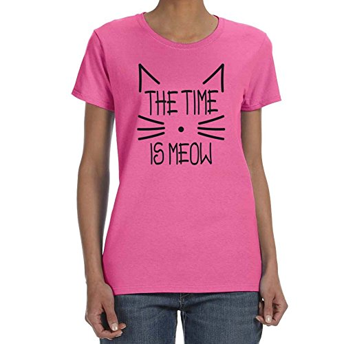 women s time is meow safety pink
