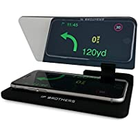 IP Brothers Head UP Display - Car Dash Mount Cell Phone Holder & Cradle for Samsung iPhone 4 5 6 7 & All Smartphones - Phone GPS & YouTube Inverted Image Reflector - Gift Sticky Pad & Reflective Film