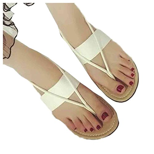 Zomer Sandalen, Inkach Vrouwen Platte Peeptoe Outdoor Schoenen Mode Bohemen Vrije Tijd Sandalen Wit