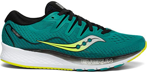 Saucony Men's Ride ISO 2 Running Shoe, Teal/Black, 11 M US