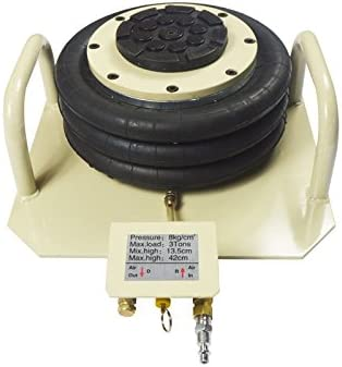 INTBUYING Triple Bag Air Jack 3 Ton(6600lbs Pneumatic Lift Car Repair Inflatable Bladder Jack-Curved Handle