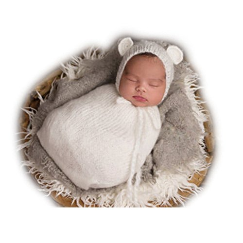 [Fashion Newborn Boy Girl Baby Costume Knitted Photography Props Hat Sleeping Bag] (Baby Costumes For Girls)