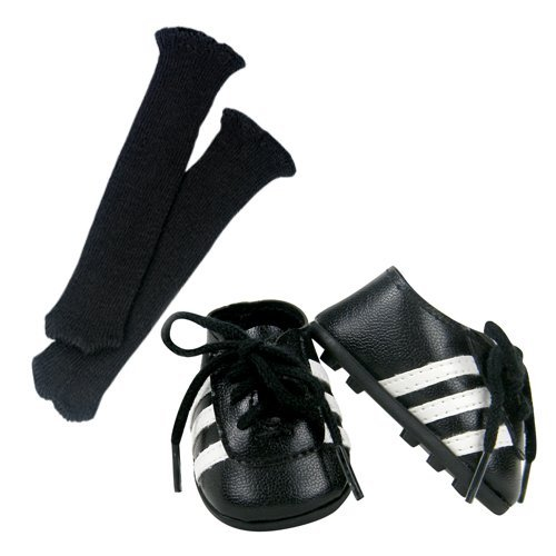 18 Inch Doll Soccer Cleats & Socks 2 Pc. Set Fits 18 Inch American Girl Dolls & More! Doll Soccer Shoes Set of Doll Socks & Cleats