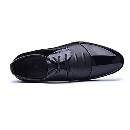 superiori 2018 uomo traspirante Colore EU basse Xujw Nero Stringate da Marrone cuciture pelle da 48 Scarpe shoes con Scarpe formali dimensione liscia stringate Laccioli con lavoro in fodera vqwFw15T