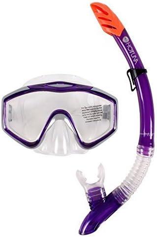 Hot Tuna Unisex Atún Válvula De Purga Máscara Snorkel Set Snorkelling De Agua Buceo Color Morado Talla única Por Hot Tuna Sports Outdoors