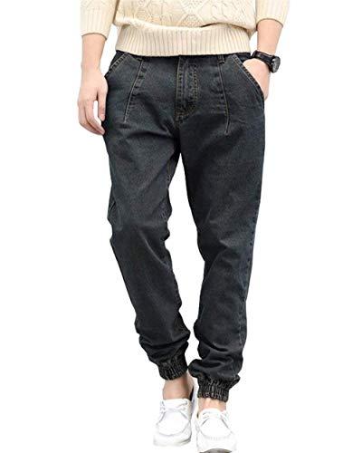Pantaloni Modo Retro Stile Dei Larghi Anaisy Di Allentano Casuali Streetwear Denim I Giovane Dell'anca Graublack Jeans Del Lunghi XZwqUa