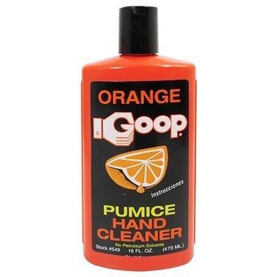 Orange Goop Waterless Hand Cleaner With Natural Citrus & Pumice, 16 oz Flip Top Bottle - Cleaner Orange Hand