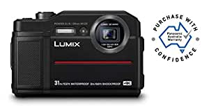 Panasonic Waterproof, Shockproof, Freezeproof, Dustproof, Lumix FT7 Tough Underwater Digital Point and Shoot Camera with 4K Photo and 4K Video, Black (DC-FT7GN-K)
