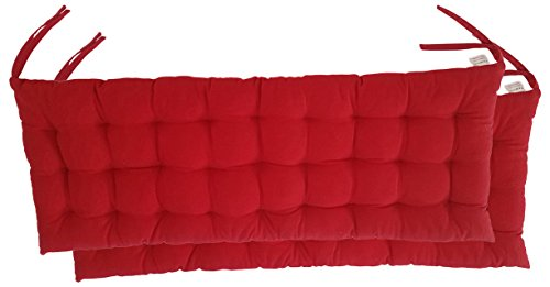 """Cottone 100% Cotton Bench Pads w/Ties (Set of 2) 