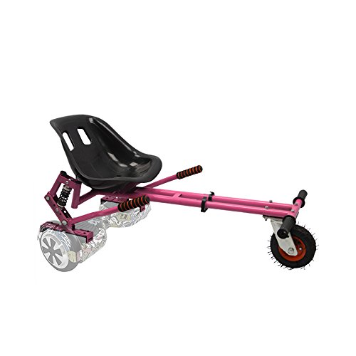 Hoverkart with suspension for 6.5'',8'',10'' GoKart Electric Scooter (BLACK, universal (6.5'', 8'', 10'')) (PINK) by Generic