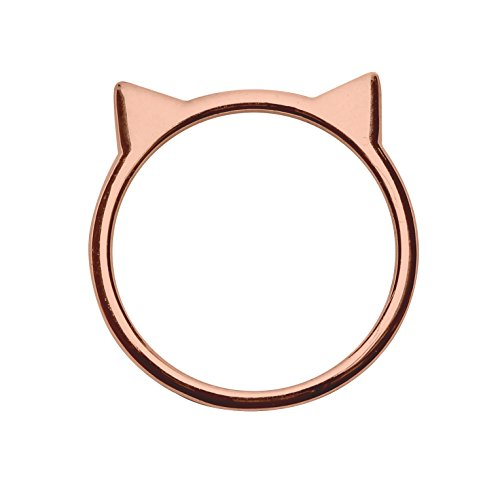(Cat Ear Ring in Rose Gold-Plated Sterling Silver (Size 7) )