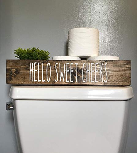 (Cotton & Grain Hello Sweet Cheeks Bathroom Toilet Storage Toilet Paper Holder)