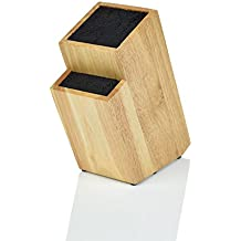 Kapoosh Batonnet Knife Block, Light Oak Woodgrain