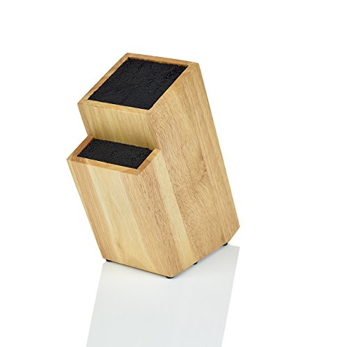 Kapoosh Batonnet Knife Block, Light Oak Woodgrain (Block Star Small)
