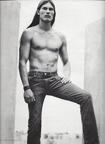 **PRINT AD** With Ethan Spears For 2000 Calvin Klein Bootcut Jeans **PRINT AD** ()