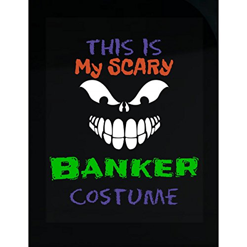 All Causes This is My Scary Banker Halloween Costume - Sticker -