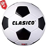 CLASICO Training & Recreation Soccer Ball Tradition Balls Free Carrying Net Bag &Needle Official Size 4 for Ages 8-12