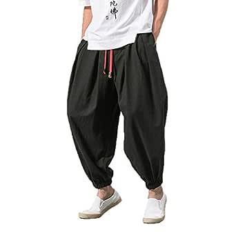 Pantalones Hombre, YanHoo Algodón y Lino Pantalones Moda Pop ...