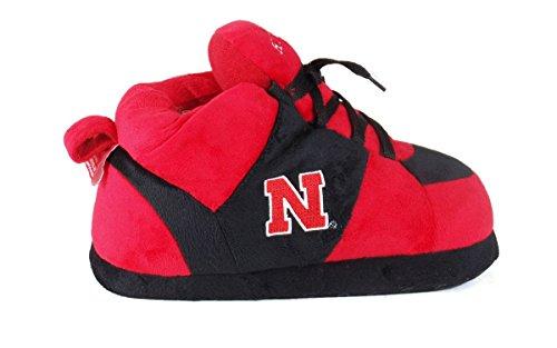 Happy Feet Mens and Womens OFFICIALLY LICENSED NCAA College Sneaker Slippers Nebraska Cornhuskers 80ks2YD