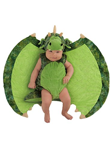 Princess Paradise Baby Swaddle Wings Drooly Drac Deluxe Costume, Darling Dragon, 0 to 3 Months]()