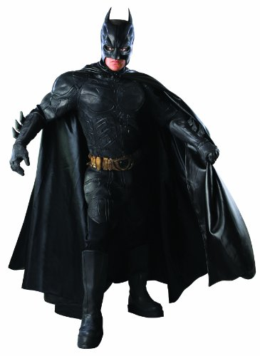 (Batman The Dark Knight Rises Grand Heritage Collector's Batman Costume, Black,)
