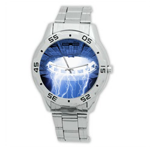 Novelty Gift Cool UFO Pattern Stainless Steel Mens Watch