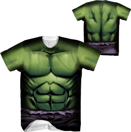 [Marvel Comics The Incredible Hulk Performance Compression Athletic Costume T-Shirt (Adult] (Hulk Costumes Adults)