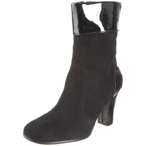 Aerosoles Womens Controle Tower Boot Black Suede HsOLZaCKI