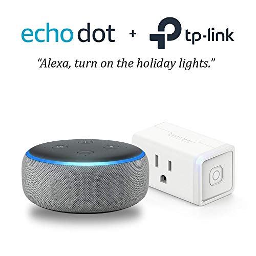 Echo Dot (3rd Gen) – Heather Gray with with TP-Link Smart Plug Mini