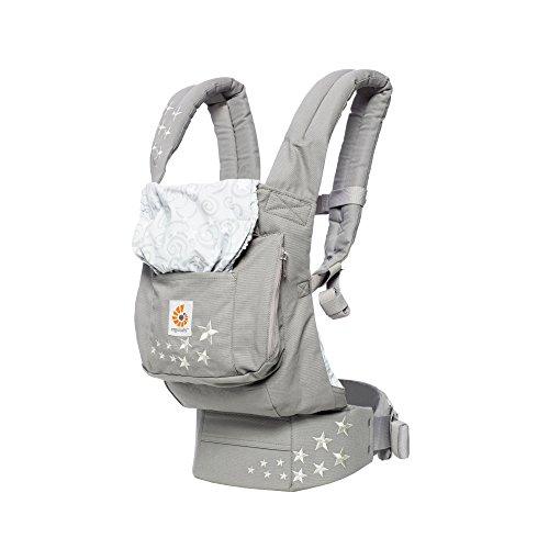 Ergobaby Original Award Winning Ergonomic Multi-Position Baby Carrier with Lumbar Support, Storage Pocket, Galaxy ()