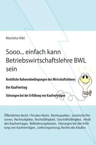 Sooo. einfach kann Betriebswirtschaftslehre BWL sein.: Rechtliche Rahmenbedingungen des Wirtschaftslebens, Der Kaufvertrag, Störungen bei der Erfüllung von Kaufverträgen