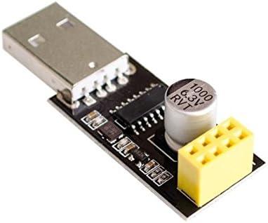 Chironal 10pcs//lot CH340 USB to ESP8266 ESP-01 Wifi Module Adapter Computer Phone Wireless Communication Microcontroller for Arduino