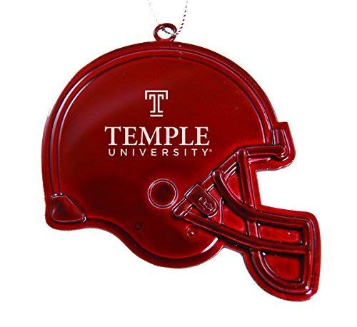Temple University - Chirstmas Holiday Football Helmet Ornament - Red