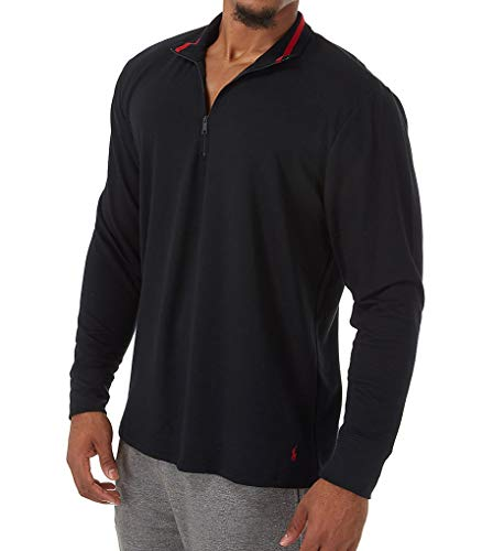 (Polo Ralph Lauren Knit Sleepwear 1/4 Zip (PP08HR) L/Polo Black)