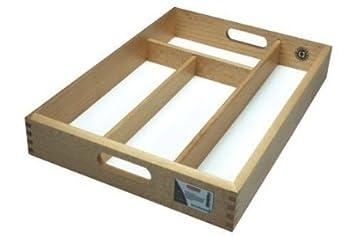 Producto nuevo Apollo Rb bandeja de cajón para cubiertos para guardar ideal para cubertería de madera de caucho: Amazon.es: Hogar