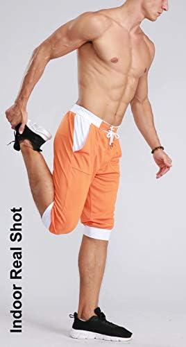 MAGCOMSEN Men's Joggers Workout Gym Running Mesh Shorts Quick Dry Lightweight Below Knee Sweatpants 7