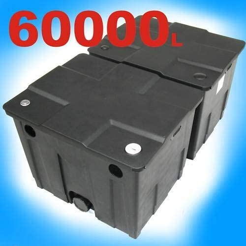 D/&L Teichaussenfilter Teichfilter Wasserfilter Teich Filter 60000L Durchlauffilter Teichkl/ärer AWZ f/ür UVC Lichtfilter ECO Teichpumpe