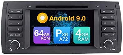 ZERTRAN Android 9.0 Core PX6 A72 4G+64G DVD del Coche de navegación GPS Reproductor Multimedia Car Stereo para BMW 5-E39 1996-2003 X5-E53 2000-2007 Land Rover Range Rover 2002-2004