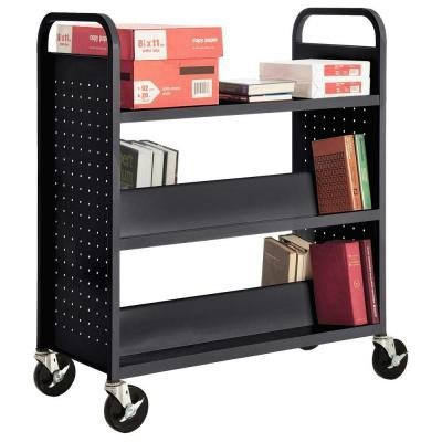 (Sandusky Lee SFV336-09 Combination Top Flat Shelf Book Truck, 19