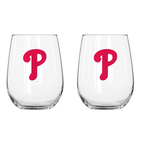Boelter Philadelphia Phillies Curved Wine Glass 16 oz. (2 Pack)